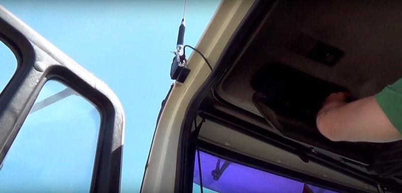 установка антенны для рации дальнобойщика