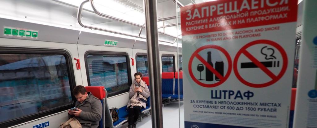 видеонаблюдение в вагоне метро